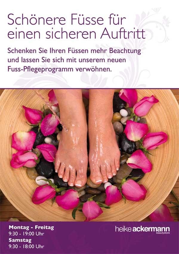 Fußpflege in Mainz im Heike Ackermann Beautystore, Ackermann Beauty
